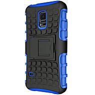 rengas tyyli hybridi tpu pc kova kiinnike suojaavan potkia seistä suojakotelo Samsung Galaxy S6 reuna / S6 / S5 / S5 mini / s4