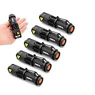 Lampes Torches LED LED 1 Mode 2000 LumensFaisceau Ajustable / Etanche / Résistant aux impacts / Tête crénelée / Clip / Urgence / Petit /