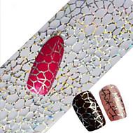 1pcs 100cmx4cm decorações imagem Pena de glitter nail foil etiqueta bonita do laço flor folha unhas diy beleza stzxk16-20
