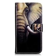 Για Samsung Galaxy Θήκη Θήκη καρτών / Πορτοφόλι / με βάση στήριξης / Ανοιγόμενη tok Πλήρης κάλυψη tok Ελέφαντας Μαλακή Συνθετικό δέρμα