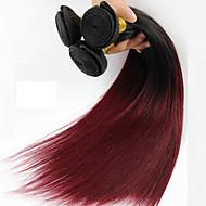 1 조각 스트레이트 인간의 머리카락 직물 브라질 텍스처 인간의 머리카락 직조 직선
