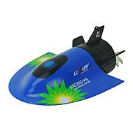 bateau rc mini-sous-marin jouet vitesse alimenté télécommande bateau 2,4g plastique tourisme jouets sous-marins bateau pour les enfants