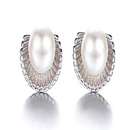Dame Stangøreringe Mode Perle Legering Cirkelformet Smykker Til Fest Daglig