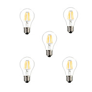 5pcs A60 6W E27 500LM Dimmable 360 Degree Warm Cool White Color LED Filament Light