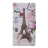 Mert Huawei tok / P9 Lite / P8 Lite Pénztárca / Állvánnyal Case Teljes védelem Case Eiffel torony Puha Műbőr HuaweiHuawei P9 Lite /