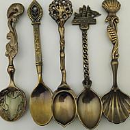 Decorativos cuchara de postre cucharada de helado revolver rod cucharaditas estilo de cosecha pequeña (tipo al azar)