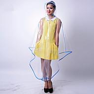 화이트 그린 블루 핑크 노란색 퍼플 비옷 비오는날 Plastic 레이디 남성