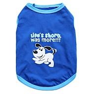 猫用品 / 犬用品 Tシャツ ブルー 犬用ウェア 夏 アニマル ファッション