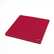 Square Thick Silicone Insulation Pad Anti-Hot Cup Pot Dishes Mat