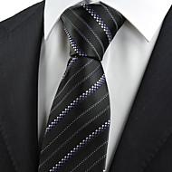 남성제품 빈티지 / 귀여운 / 파티 / 작업/오피스 / 캐쥬얼 면 / 폴리에스테르 / 레이온 넥타이,줄무늬