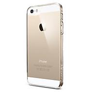 Para Capinha iPhone 5 Transparente Capinha Capa Traseira Capinha Cor Única Rígida PC iPhone SE/5s/5