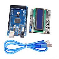 továbbfejlesztett változata mega2560 Development Board + 1602 LCD kezelő pajzs Arduino