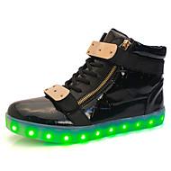 herresko ledet sko høy LED lys lysende sko usb lading bestselger casual sko svart / hvit / rød