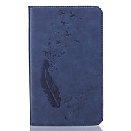 PU leather Feather Pattern Plate Embossing Protective Case forSamsung Galaxy Tab T280/T350/T377/T715