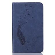 PU piatto modello in pelle piuma goffratura custodia protettiva ForSamsung Galaxy Tab T280 / T350 / t377 / T715