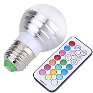 5W E26/E27 Ampoules Globe LED A50 4 SMD 300-450 lm Blanc Froid RVB Décorative Gradable Commandée à DistanceAC 110-130 AC 85-265 AC