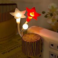 カラフルなステークスの花の夜の光