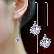 Cirkelformet Smykker Dame Imiteret Perle Mode Yndig Fest Daglig Perle Legering 1 par Sølv