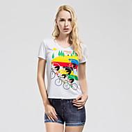TASDAN® Naisten koot Lyhyt hiha Juoksu T-paita College-pusero Jersey Topit Hengittävä Nopea kuivuminen Hikeä siirtävä Pehmeä Kesä Syksy