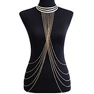 Dame Kropssmykker Mavekæde Harness halskæde Krops Kæde / mavekæde På tværs Europæisk Bikini Statement-smykker kostume smykker Legering