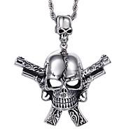 Ανδρικά Κρεμαστά Κολιέ Skull shape Ανοξείδωτο Ατσάλι Πανκ Στυλ Κοσμήματα Για Halloween Καθημερινά