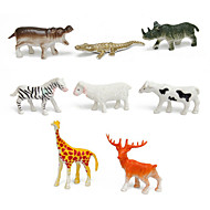 68pcs Animal Action Figures Set Modeling Toys Tigers, Dinosaurs, Lions