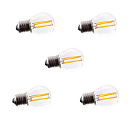 5pcs HRY® G45 4W E27 360LM Dimmable 360 Degree Warm Cool White Color LED Filament Light
