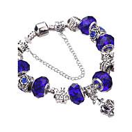 Γυναικεία Κοριτσίστικα Βραχιόλια με Φυλαχτά Βραχιόλια Βραχιόλια Strand Silver Bracelets Κρυστάλλινο Ανθεκτικό Μοντέρνα Λατρευτός Χάντρες