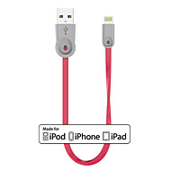 Mni WaterDrop MFi Certified Lightning to USB Charger SYNC Flat/Noodle 0.25M Cable for iphone5 6 plus SE, iPad air pro