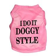 猫用品 / 犬用品 Tシャツ ブルー / ブラック / ピンク 犬用ウェア 夏 花/植物 ファッション
