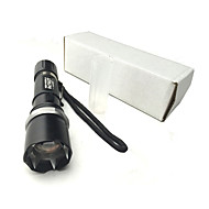 Self Defense Flashlight With Spike/Led Torch/18650 Or AAA Battery/300 Lumen Focus Zoom Rechargeable/Waterproof