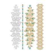 1 Tatoeagestickers Bloemen Series Non Toxic / Waterproof / Metallic / BruiloftDames / Heren / Volwassene / Tiener Flash Tattootijdelijke