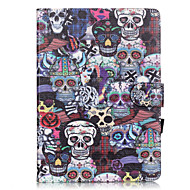 PU Leather Material Skull Pattern Painted Embossed Tablet Case for iPad Air 2