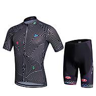 Sport Fahhrad/Radsport Trikot + Latzhosen/Radtrikot+Kurze Radhose Mit Trägern / Kleidungs-Sets/Anzüge Herrn / Unisex Kurze Ärmel