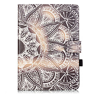 PU Leather Material Half Flower Pattern Painted Embossed Tablet Case for iPad Air 2