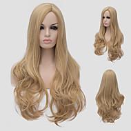 Capless Pruiken synthetisch Zonder kap Pruiken Lang Blond Haar