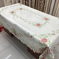 Suorakulma Kukka Patterned Table Cloths , Polyesteri materiaali Taulukko Dceoration