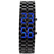 Unisex Men's Watch Blue LED Lava Style Faceless Watch Black Steel Band Wrist Watch Cool Watch Unique Watch Fashion Watch