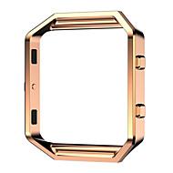 Fekete / Rózsa / Arany / Ezüst Rozsdamentes acél / Fém Replace Metal Frame Fém óraszíj Mert FitBit Óra 23mm