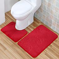 set rahat tarzı polyester banyo kilim (2 adet)