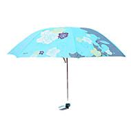 레드 / 블루 접는 우산 써니와 비오는 메탈 / Plastic 레이디