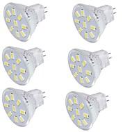 2 GU4(MR11) LED reflektori MR11 9 SMD 5733 150 lm Toplo bijelo / Hladno bijelo Ukrasno 9-30 V 6 kom.