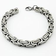 Heren Armbanden met ketting en sluiting Modieus Roestvast staal Lijnvorm Zilver Gouden Zilver-Zwart Goud/Zilver Goud Rose Sieraden Voor