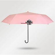 블랙 / 그린 / 블루 / 핑크 / 노란색 접는 우산 써니와 비오는 고무 레이디 / 남성
