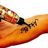 1 Tijdelijke verf Non Toxic HennaBaby Kind Dames Girl Heren Volwassene Boy Tiener Flash Tattoo tijdelijke Tattoos