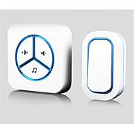 dc trådløse dørklokke hjem langdistance fjernbetjening elektronisk dørklokken vandtæt