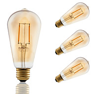 2W E26 LED Filament Bulbs ST21 COB 180 lm Amber Dimmable / Decorative AC 110-130 V 4 pcs