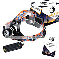 U`King® Headlamp Straps LED 3000LM Lumens 3 Mode Cree XM-L T6 18650 Adjustable Focus / Rechargeable / Compact Size / High Power