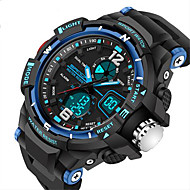 SANDA® Men's Fashion Sport LED Analog Digital Dual Time Luminous Rubber Band Waterproof Watch Fashion Wrist Watch Cool Watch