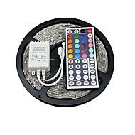 z®zdm 5m 150x5050 cms rgb conduit de lumière ip20 bande avec télécommande 44key (DC12V)